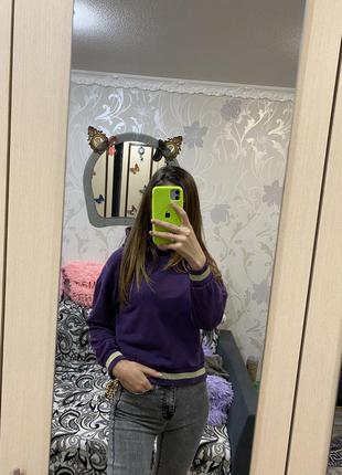 Фиолетовый батник худи