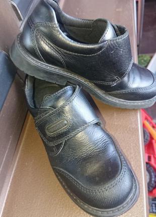Туфли на мальчика школьные кожаные