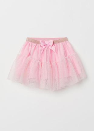 Юбка фатиновая розовая с блестками h&m 8 - 10 лет