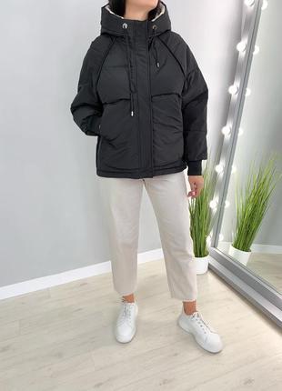 Куртка пуфер парка демисезонная еврозима бойфренд/оверсайз!