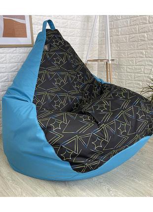 Кресло груша принт микс длина - 90 см, ширина - 60 см