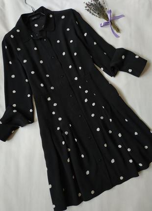 Брендова сукня сорочка в горох
