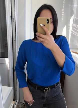 Блуза рубашка блузка с рукавом электрик