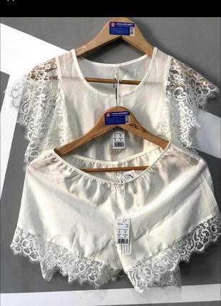 Невероятная шелковая пижама нижнее белье утро невесты