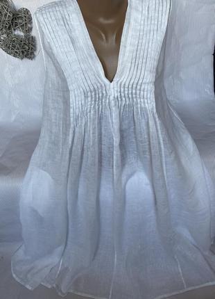 Роскошное воздушное платье лён 100%