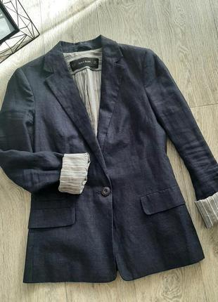 Пиджак zara лен
