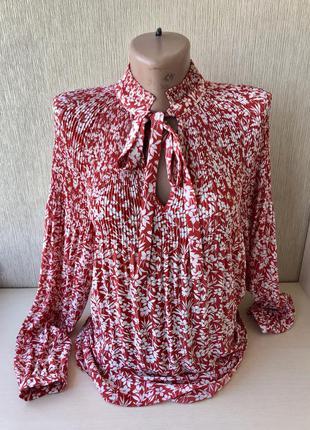 Блуза оригинал блузка фирменная плиссе на завязках