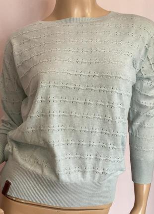 Голубой легкий фирменный свитерок /s/brend maketano