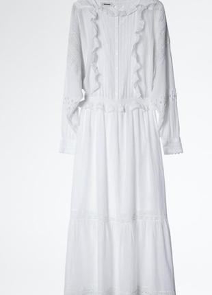 Женское белое платье zadig & voltaire