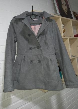 Крутое стильное пальто теплое tally weijl