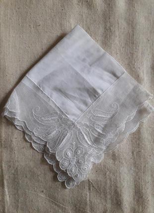 Винтаж винтажный носовой платок