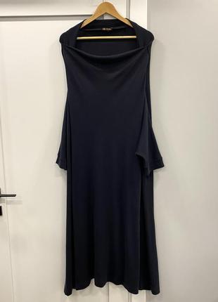 Loro piana кашемировое платье оверсайз накидка л