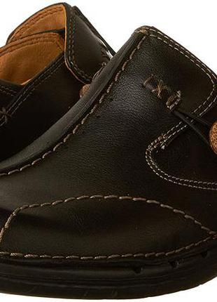 Мегаудобные кожаные туфли балетки мокасины clarks/натуральная кожа