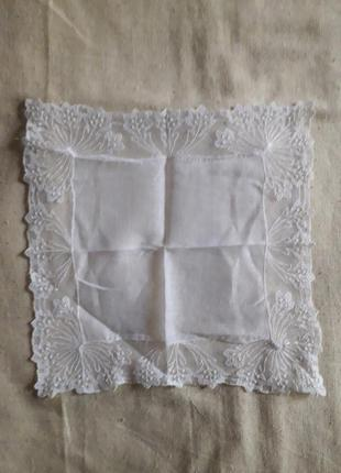 Винтаж носовой платок