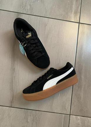 Новые кроссовки/ кеды из натуральной замши puma us 6,6 uk 4 eur 36