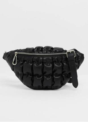 Новая женская бананка поясная сумка bershka черная