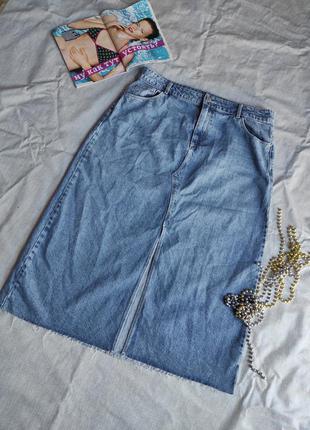 Юбка джинсовая миди uk 16