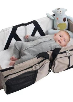 Многофункциональная сумка - детская кровать ganen baby travel bed. переноска сумка для младенца. пеленальный столик. сумка для пелёнок