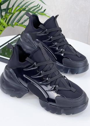 Новые черные кроссовки di@r 38 р