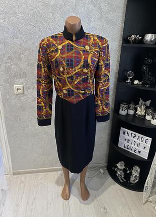 Шикарное винтажное шелковое платье richard warren оригинал