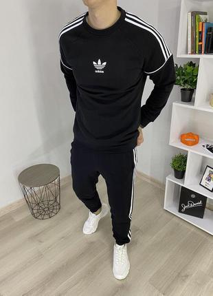 Спортивный костюм адидас чёрный