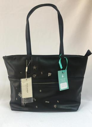 Чёрная сумка с заклёпками david jones