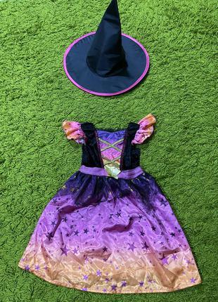 Платье ведьма ведьмочка на2-3года