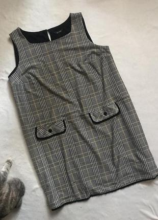 Платье в гусиную лапку/батал/plus-size(28р)