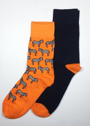 Набор 2 пары носки яркие стильные хлопковые р.39-46 бренд c&a