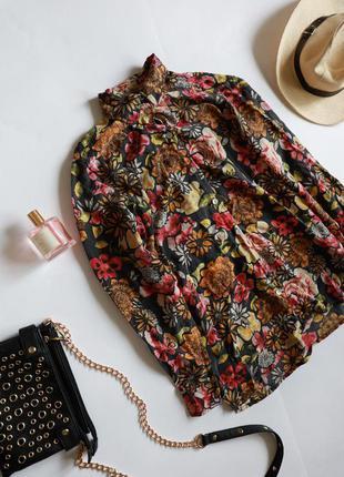 Next шовкова вінтажна сорочка у квіти