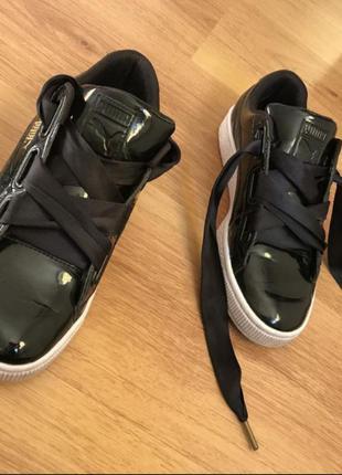 Лаковые кроссовки puma оригинал