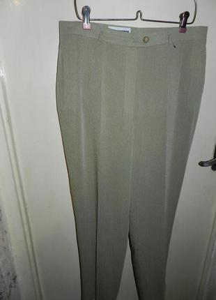 Зауженные,оливковые брюки с карманами,высокая посадка,большого размера gerry weber