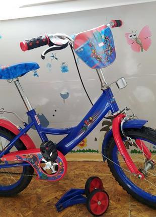 Велосипед на 5-8 лет, велик, супергерои, avengers