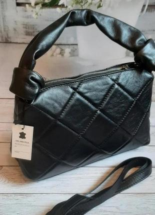 Женская сумка италия узлы мягкая кожа