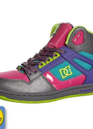 Кроссовки dc shoes р. 38, стелька 24 см. состояние новых. оригинал, сша, хайтопы, сникерсы