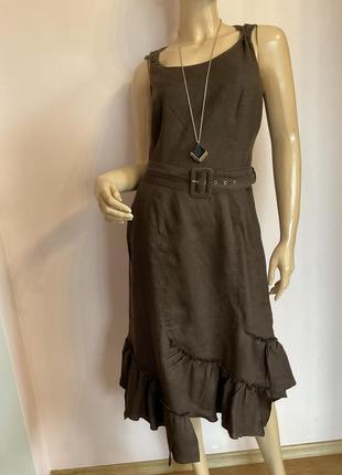 Немецкое фирменное льняное платье/38/brend betty barclay