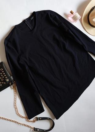 Zara класична темно-синя блуза реглан