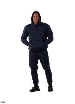 Мужской спортивный костюм на флисе. трехнитка.