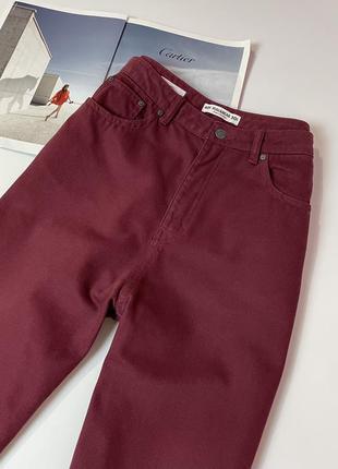 Плотные джинсы высокая посадка pull&bear