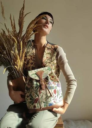 Рюкзак гобелен англия под винтаж цвета рюкзачок