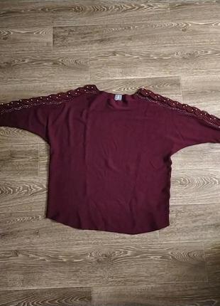 Батал большой размер шикарный красивый стильный свитер натуральный теплый мягкий свитерок кофточка