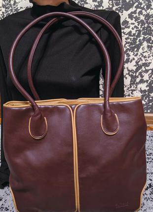 Шикарная кожаная сумка сумочка