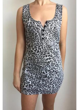 Платье, плаття, платье майка, леопардовое платье.