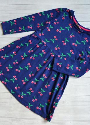 Коттоновое платье с рукавами matalan 7 лет