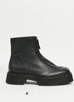 Натуральные кожаные ботинки asos