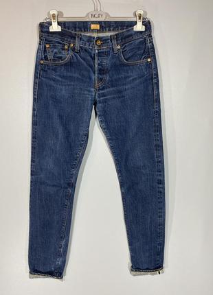 Levis 501 made in usa w26 синие джинсы selvidge селвидж