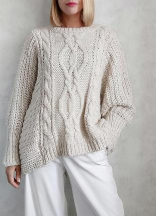 Базовый оверсайз свитер джемпер италия