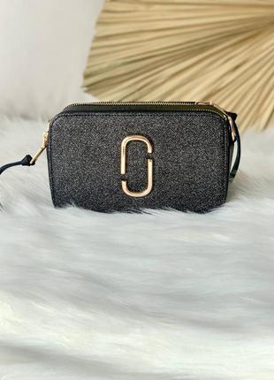 Marc jacobs snapshot black shine женская сумочка