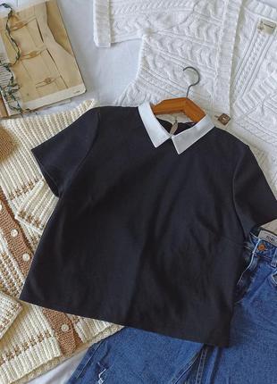 Блуза с воротником new look футболка