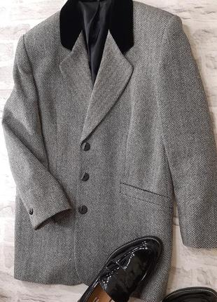 Стильный трендовый шерстяной пиджак / пальто.
